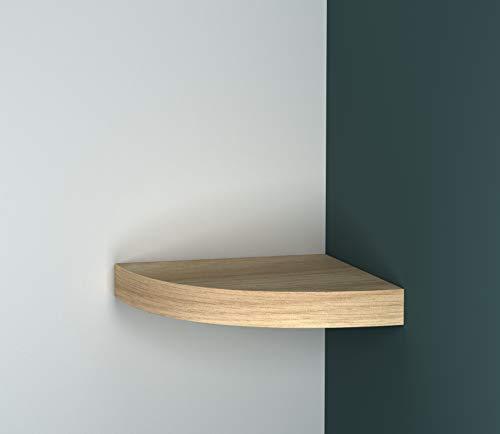 URBNLIVING Wand-Eckregal, schwebend, aus Holz eiche