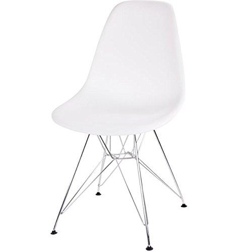 イームズモデル シェルチェア リプロダクト(DSR)(脚:スチール)【色:ホワイト】椅子 チェア