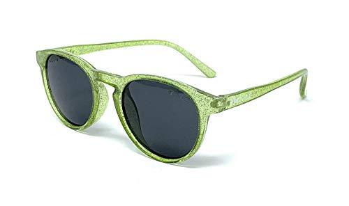 VENICE EYEWEAR OCCHIALI Gafas de sol Polarizadas para niño o niña - protección 100% UV400 - Disponible en varios colores (Verde Purpurina)