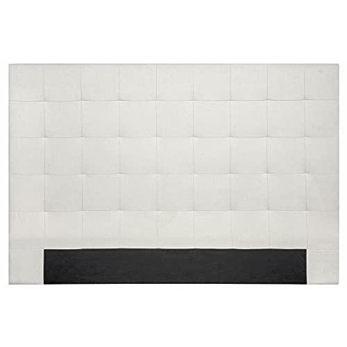 Miliboo Tête de lit capitonnée en Tissu Beige 180 cm HALCIONA