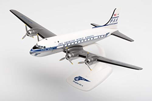"""Herpa Pan American World Airways Douglas DC-4 – N90906 """"Clipper Munich"""" in miniatura per bricolage collezionismo e da regalo, Multicolore, 612784"""