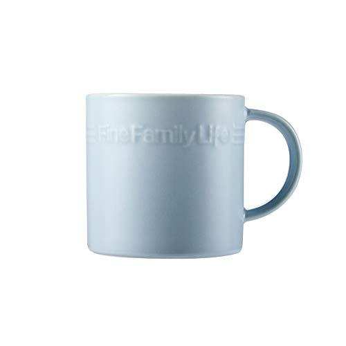 Rghfn Taza de cerámica Taza de té Leche láctea Estilo japonés Copa de Agua Taza de Agua Taza de café Desayuno Taza de Cereal Gran Capacidad 400ml [Azul] (Color : Azul)