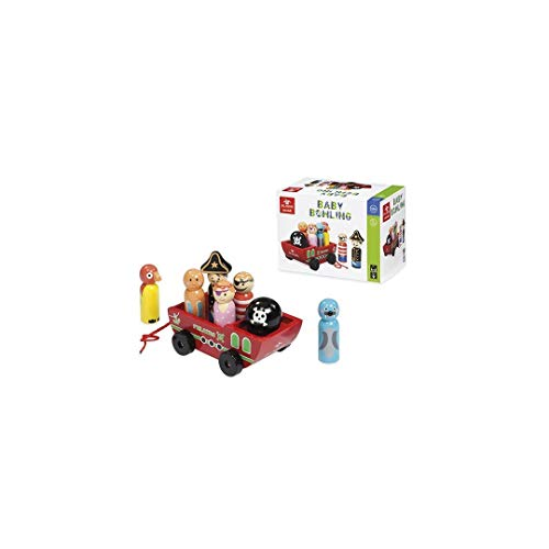 Dal Negro-DAL Baby Bowling Spiel Spielset erste Kindheit Spielzeug 414, Mehrfarbig, 8001097538867