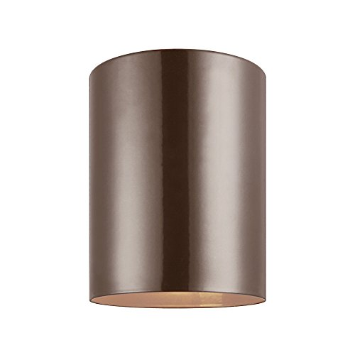 Sea Gull Lighting 7813801-10 Cylinders Outdoor Ceiling Flush Mount Outside Fixture, One - Light, Bronze