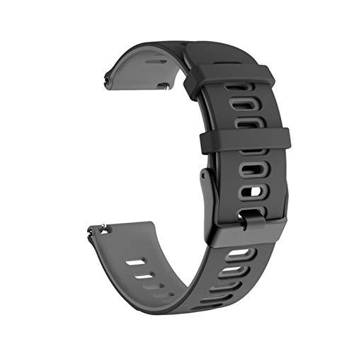 Pulsera Deportiva De Silicona Suave De 20 Mm 22 Mm Para La Pulsera De La Correa De Xiaomi LS05 Para Huawei Watch GT 2 WheamBand Band Para Garmin Forerunner245 ( Color : Black gray , Size : 22MM )
