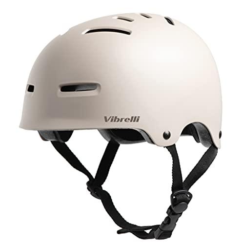 Vibrelli Skateboard Bike Helmet - Fits Kids, Youth, Adult Bike Helmet, Mens and Womens Helmet - High Ventilation - Scooter Skateboarding Rollerblade Helmets/Casco - Removable Liners