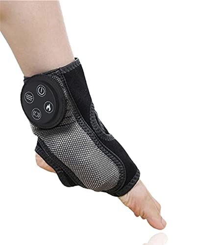 Electric Foot Ankle Warmer Massager, Wireless Adjustable Foot Shiatsu Deep Kneading Plantar Vibration Heating Therapy Feet Acupuncture Points Massager for Ankle, 9W