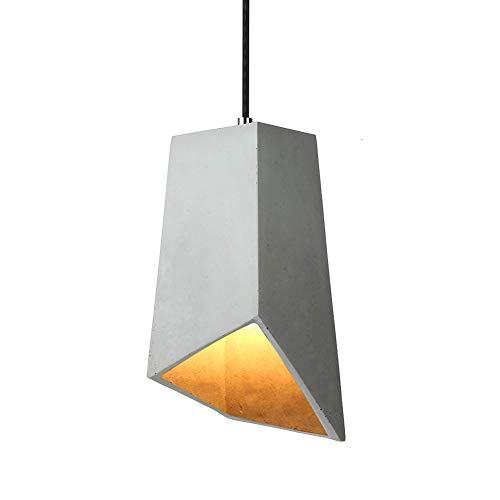 Kreative Modern Industrielle Pendelleuchte - Vintage Kronleuchter Beton Quadratische Säule Hängelampe Höhenverstellbar E27 Lampenfassung Deckenleuchte für Küchen Esszimmer, Grau