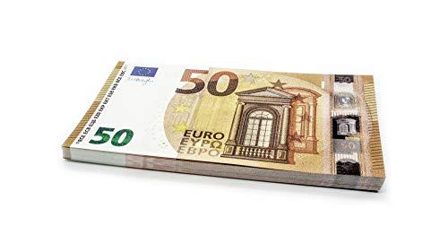 Cashbricks 75 x €50 Euro Spielgeld Scheine - vergrößert - 125{bc3ed0286fb44c52adb73edad1b6926d37e2317840bd0cbe83be8b2d00a870a3} Größe - 2017