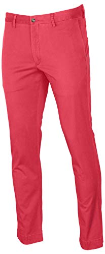 Ralph Lauren Polo Mens Stretch Classic Fit Chino Pants, Nantkt Red, 32W x 30L