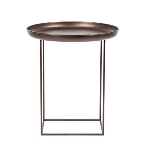 NORR 11 Duke Small Beistelltisch Ø 45cm, Bronze Tischplatte abnehmbar H: 52cm