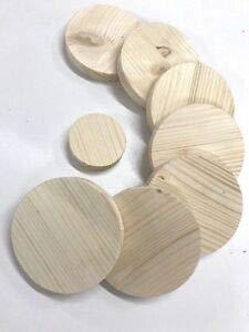 Runde Holzscheibe Rund Holz Fichte Leimholz Platte Stärke 18-28mm Tischplatte (Stärke 18mm, ø450mm)