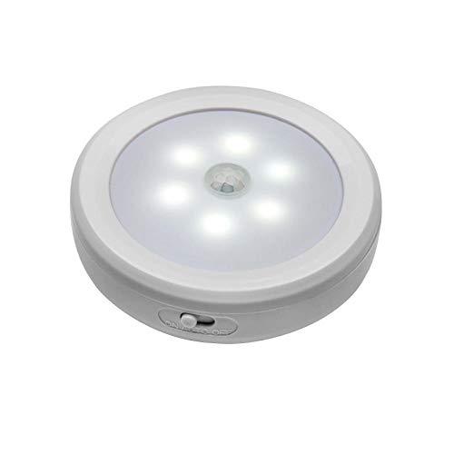 2 stücke pir motion sensor 6 led licht schnurlose batterie nachtlicht schrank treppenlichter tippen sichere lichter für flur bad schlafzimmer-2PCS weißes Licht