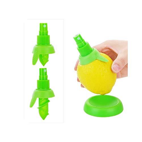 ZYA - Pack de 2 exprimidores de Limón con base incluida. Set de dos exprimidores de limón de fácil instalación. Spray Exprimidores De Limón. Extractor de Jugo de limón en spray. Extractor de Jugo de cítricos por aspersión con base incluida (Verde)