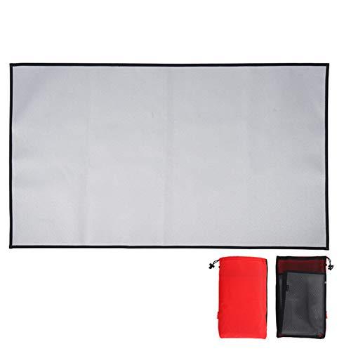 Dheera Pano de acampamento à prova de fogo, almofada de piquenique dobrável, tapete de alta temperatura, manta de isolamento térmico, almofada impermeável para piquenique ao ar livre (tamanho 3)