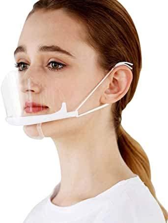 Mund Schild | Gesichtsschild | Gesichtsschutz Plexiglas | Visier aus Kunststoff | Schutzschild | Mundschutz | Niesschutz Spuckschutz