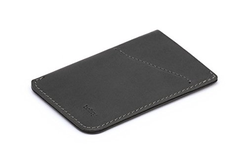 Bellroy Card Sleeve (Premium Leather Card Holder or Minimalist Wallet, Holds 2-8 Cards or Business Cards, Folded Note Storage) - {{colour}Navy