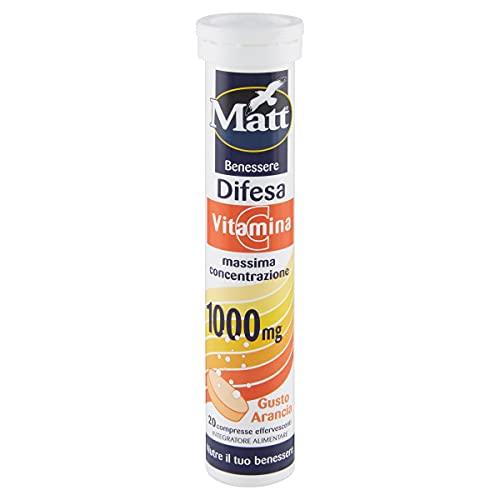 Matt&Diet - Difesa - Integratore di Vitamina C 1000 mg - Compresse Effervescenti - 90 gr