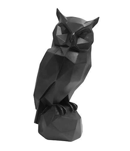 Present Time - Statue Chouette Noire Origami