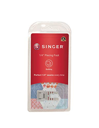 SINGER | Quarter Inch Piecing Presser Foot, Creates Perfect 1/4 Inch Seams, Great for Quilting, Baby...