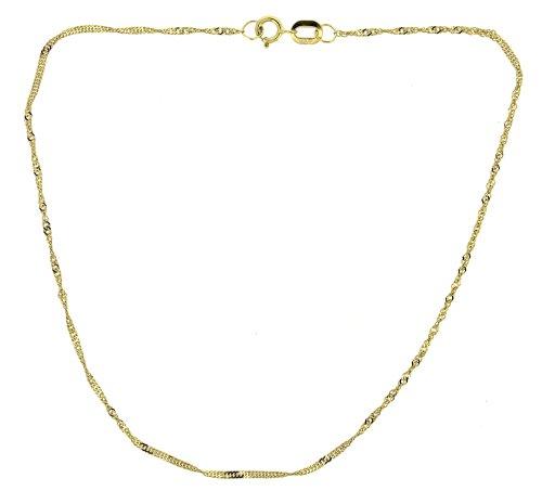 Adara Twist, in oro giallo 9kt, lunghezza 18.3cm