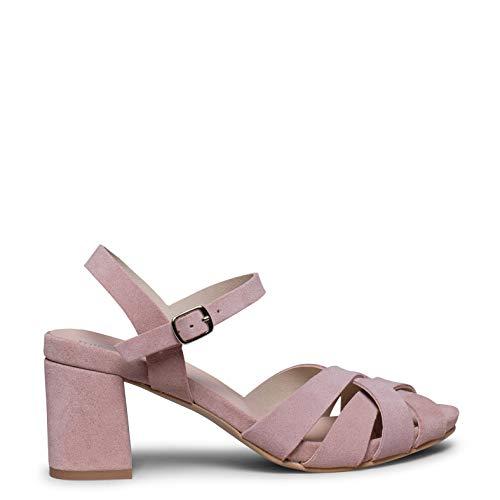 Zapatos miMaO. Zapatos Piel Mujer Hechos EN ESPAÑA. Sandalia de Tacón Ancho Elegante y Casual. Sandalia de Mujer Cómoda con Plantilla Ultra Confort Gel