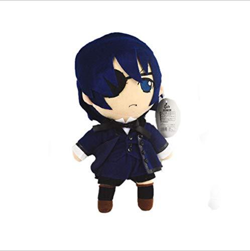 HJYAAA Plüschtier Anime Black Butler Plüschpuppe Meister Shire Butler Sebastian Kinder Geschenk 25Cm