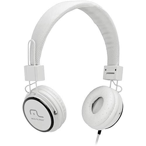 Fone de Ouvido Multilaser com Microfone Headfun Branco P2 - PH087