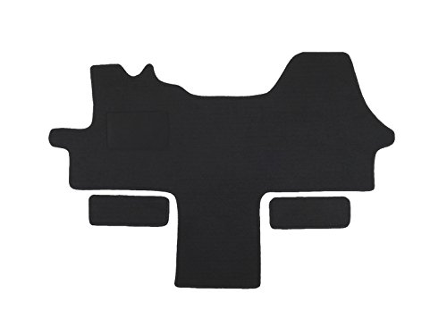 Fußmatte 1614 - Autoteppich von Alpha-Tex (1-tlg. + 2 Einstiege in Qualität Tigra schwarz, Umrandung rot)