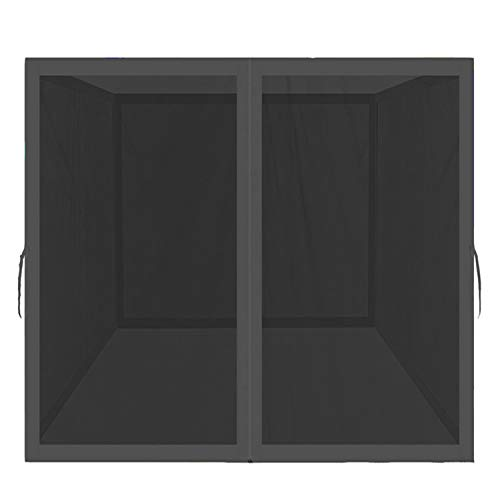 PROHIKER Mosquito Net for Outdoor Patio and Garden, Screen House for Camping and Deck, Outdoor Gazebo Screenroom, Zippered Mesh Sidewalls for 10x 10' Gazebo and Tent (Screen House in Black)