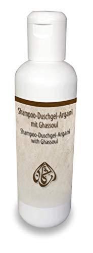 Argani Bio Shampoo-Duschgel 200ml mit Ghassoul PH-hautneutral ohne PEG-haltige Tenside
