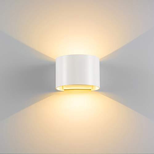 ETiME 13W LED Wandleuchte außen dimmbar Wandlampe Wasserdicht mit einstellbar Abstrahlwinkel IP65 LED Wandbeleuchtung Außenlicht (13W Weiß Dimmbar warmweiß)