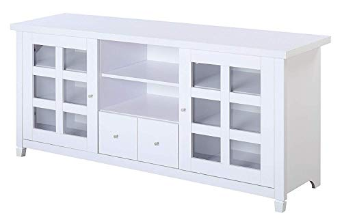 Convenience Concepts Newport Park Lane 60' TV Stand, White