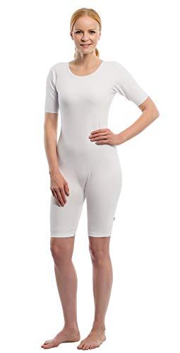 Suprima Pflegebody mit Bein und Reißverschluss - kurzer Arm - Art 4-697-000 - Gr. M - weiss