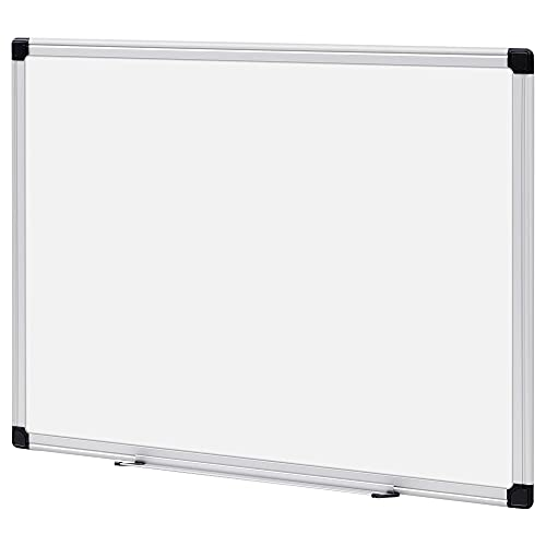 Amazon Basics Magnetic Dry Erase White Board, 24 x 18-Inch Whiteboard - Silver Aluminium Frame