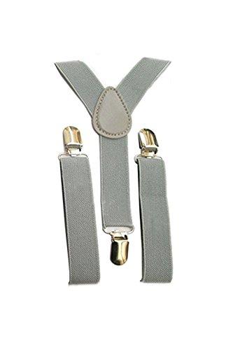 Tirantes - TOOGOO(R)Tirantes ajustables elasticos de espalda en forma de Y para ninos chicos chicas de color agrisado claro