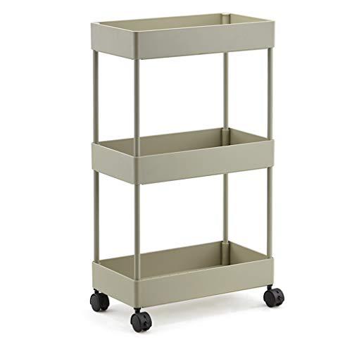 Carro organizador de almacenamiento CSQ de plástico delgado, con ruedas para la cocina, baño, espacio estrecho, ahorra espacio, plástico, D, 40*22*72CM