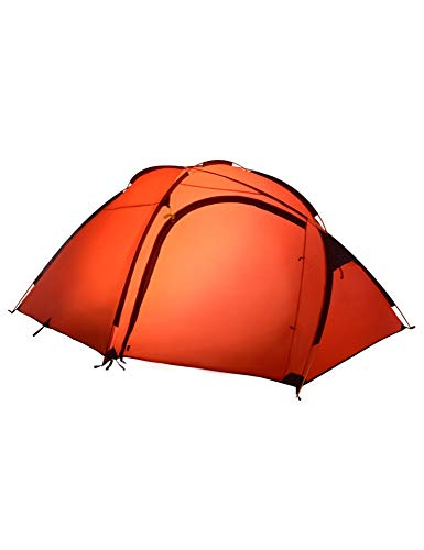 Carpa exterior de gran tamaño, poste de aluminio, carpa doble, camping, turismo, carpa impermeable a prueba de viento, generalmente es adecuada for 4-5 personas por habitación ( Color : Orange )