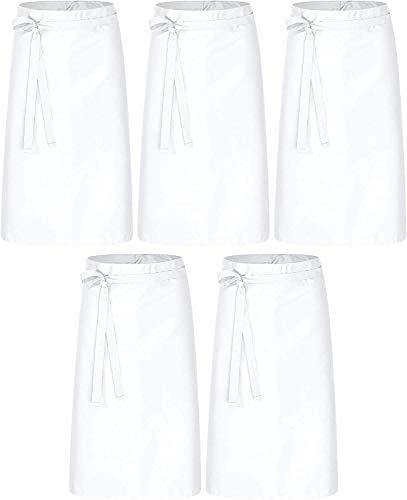 DESERMO Basic Tablier pour femme et homme 80cmx100cm | Superbe tablier pour homme et femme | Mélange innovant de coton & polyester | Poids:190 g m² | 35 % coton 65 % polyester | Blanc