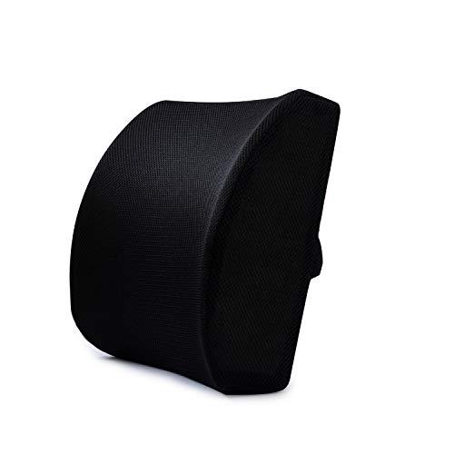 Lendenkussen van schuimrubber ter ondersteuning van de lumbale wervelkolom, rugkussens van netweefsel, egaliserend, robuust, geschikt voor bureaustoel, autostoel, ter verlichting van rugpijn in de taille.