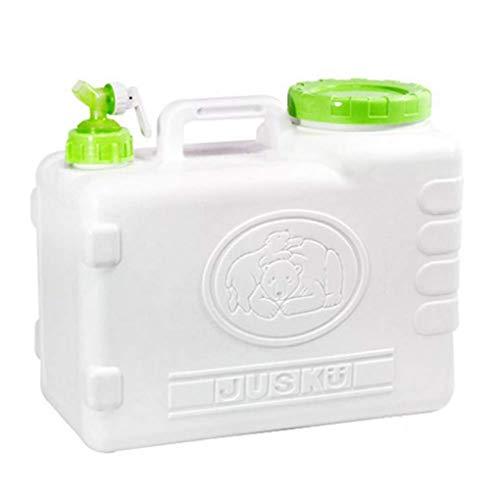 SHJMANPA Wasserspeicherbehälter Wasserkrug, Notwasserspeicher mit Zapfen Lebensmittelsicherer Kunststoff Trinkwasserfässer, wiederverwendbar, Green