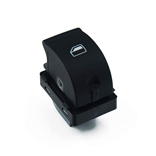 JOMOSIN QICHE25 8E0959851B Hiqh Quility - Botón de interruptor de ventana superior para AUDI A4 S4 B6 2003- B7 SEAT Exeo 8E0959851 8E0959855 automotriz (color: interruptor único)