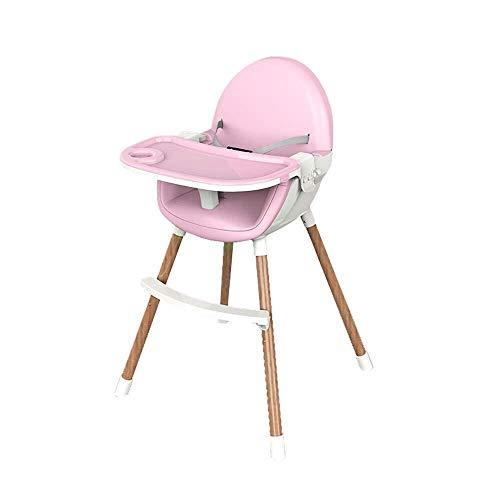 SOAR Seggiolone Pappa Pieghevole Portatile del Bambino Sedia Mangiare, antivegetativo Facile da Pulire Sicuro e Stabile Thick Multifunzionale for Bambini Dining Chair (Color : Pink)