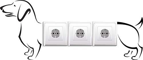 Stopcontacten/lichtschakelaar sticker tekkel