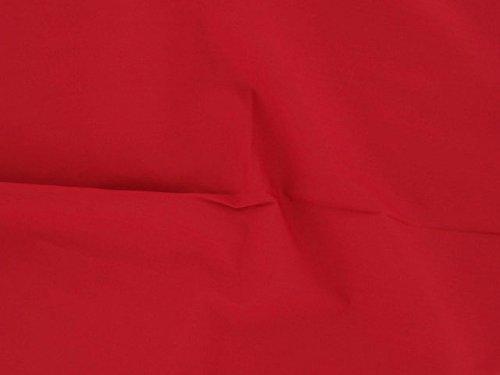 Dalston Mill Fabrics - Tessuto in Policotone (65% poliestere/35% Cotone), 2 m, Colore: Azzurro, Rosso, 2
