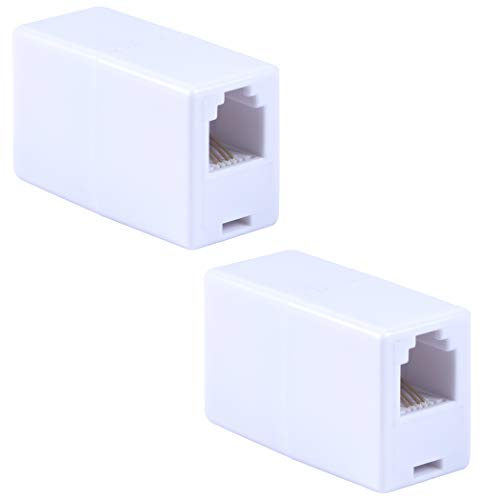 Power Gear in-Line Coupler, 2 Pack, Ideal for Telephones, Answering Machines, Modems, Fax Machines, Caller ID Display, White, 46063 - in Line Coupler