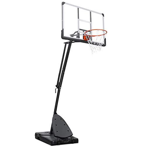 MaxKare Basketballkorb Tragbarer Basketballständer Höhenverstellbar 137cm Rückwand Transportable Basketballanlage mit Rädern zum Kinder Erwachsene Outdoor Indoor