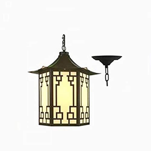 WMY Candelabro Impermeable al Aire Libre, candelabro Industrial Retro candelabro de Vidrio Negro candelabro de Mesa de Comedor de Hierro Forjado lámpara de Techo lámpara Decorativa