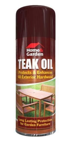 Teak Oil Spray Indoor Outdoor Garden Furniture Decking Protection Care...