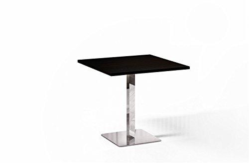 Esstisch Wenge 80x80cm quadratisch Chrom Küchentisch Bistrotisch 80x80 moderner
